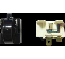 Реле пусковое для холодильника 2 контакта черное HL117
