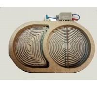 Конфорка-утятница для стеклокерамической плиты  D=270/165 2100w 230v