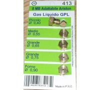 Жиклеры 8MB-GPL для газовых плит ARISTON комплект 5шт