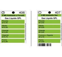 Жиклеры комплект (5шт) 6MB-GPL (0.4, 0.55, 0.65, 0.75, 0.90)