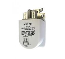 Сетевой фильтр радиопомех X17- 3, 0,47µF+2x4,7nF, X2Y2+2x1mH+680k, 250V,