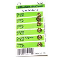 Жиклеры комплект (6шт.), 6MB-metano (0.8, 0.9-2шт, 1.0, 1.3, 1.45)