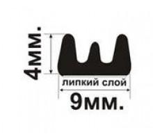 Уп-ль Планета 9*4 мм черный Е-профиль самоклеящийся 1/100м